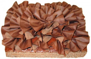 Chocolate Flamenco Ruffle Sheet