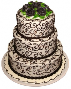 Chocolate Scroll Motif Wedding