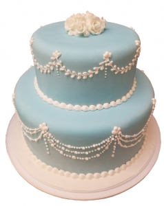 Something Blue Wedding Cake